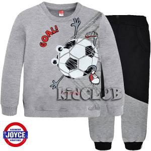 Φόρμα φούτερ αγορίστικη με στάμπα Soccer Joyce