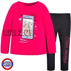 Σετ μπλούζα και κολάν κορίτσι με τύπωμα Phone Joyce