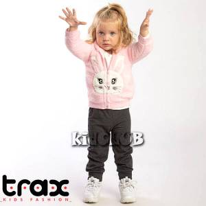 Φόρμα φούτερ ζακέτα,μπλούζα και παντελόνι 3 τεμ. TRAX