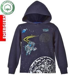 Μπλούζα φούτερ μακρυμάνικη αγορίστικη διάστημα Energiers