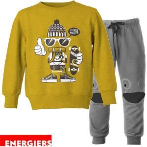 Φόρμα φούτερ αγορίστικη με τύπωμα Route Energiers