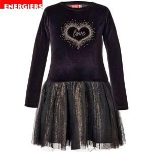 Φόρεμα συνδιασμένο με βελούδο και τούλι κοριτσίστικο Energiers