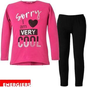 Σετ μπλούζα και κολάν κορίτσι με τύπωμα Can Energiers
