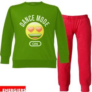 Φόρμα φούτερ κοριτσίστικη με τύπωμα Dance Energiers