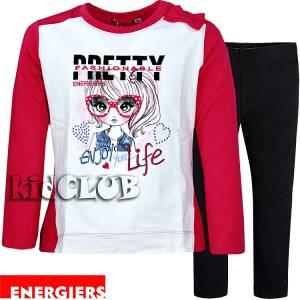 Σετ μπλούζα και κολάν κορίτσι με τύπωμα Enjoy Energiers