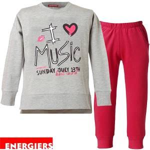 Φόρμα φούτερ κοριτσίστικη με τύπωμα Sound Energiers