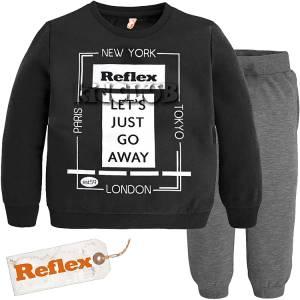 Φόρμα φούτερ αγορίστικη με τύπωμα London Reflex