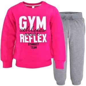 Φόρμα φούτερ κοριτσίστικη με τύπωμα Atletes wear Reflex