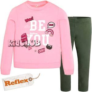 Φόρμα φούτερ με κολάν κοριτσίστικη με τύπωμα Be you Reflex