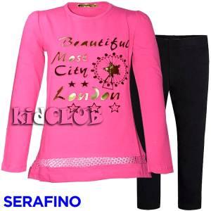 Σετ μπλούζα και κολάν κορίτσι Beautiful Serafino