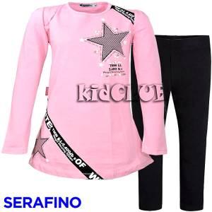 Σετ μπλούζα και κολάν κορίτσι system Serafino