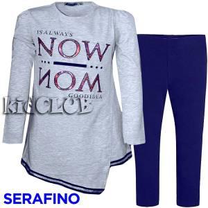 Σετ μπλούζα και κολάν κορίτσι always Serafino