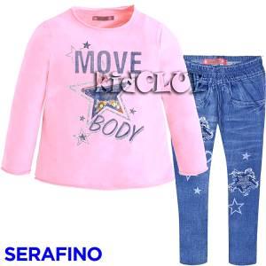 Σετ μπλούζα και κολάν κορίτσι body Serafino