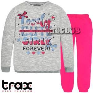 Φόρμα φούτερ κοριτσίστικη με τύπωμα Girly Trax