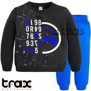 Φόρμα φούτερ αγορίστικη με τύπωμα space TRAX