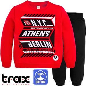 Φόρμα φούτερ αγορίστικη με τύπωμα Athens TRAX