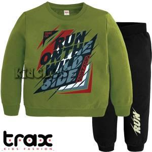 Φόρμα φούτερ αγορίστικη με τύπωμα Wild TRAX