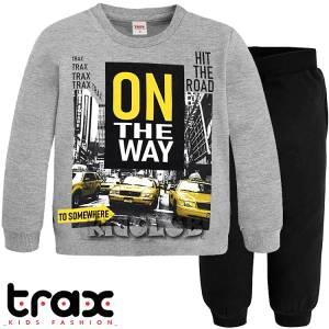 Φόρμα φούτερ αγορίστικη με τύπωμα road TRAX