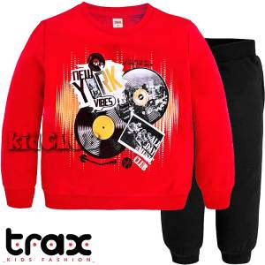 Φόρμα φούτερ αγορίστικη με τύπωμα club TRAX