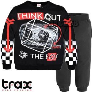 Φόρμα φούτερ αγορίστικη με τύπωμα box TRAX