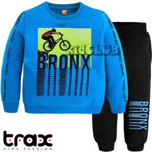 Φόρμα φούτερ αγορίστικη με τύπωμα Bike TRAX
