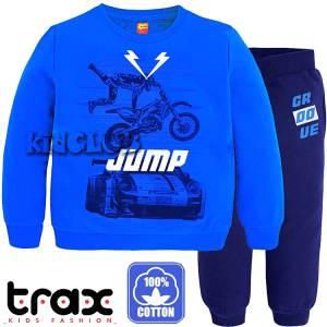 Φόρμα φούτερ αγορίστικη με τύπωμα Race TRAX
