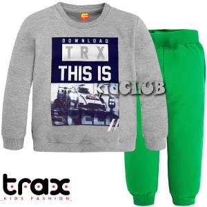 Φόρμα φούτερ αγορίστικη με τύπωμα This TRAX