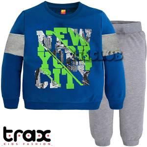 Φόρμα φούτερ αγορίστικη με τύπωμα City TRAX