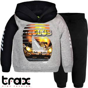 Φόρμα φούτερ αγορίστικη με τύπωμα mobil TRAX