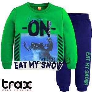 Φόρμα φούτερ αγορίστικη με τύπωμα riding TRAX