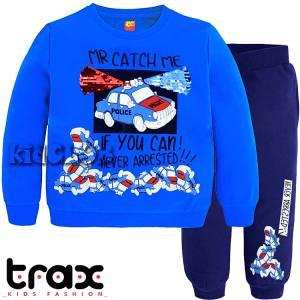 Φόρμα φούτερ αγορίστικη με τύπωμα περιπολικό TRAX