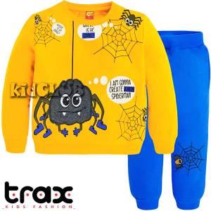 Φόρμα φούτερ αγορίστικη με τύπωμα αράχνη TRAX