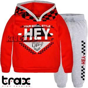 Φόρμα φούτερ αγορίστικη με τύπωμα style TRAX