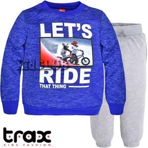 Φόρμα φούτερ αγορίστικη με τύπωμα ποδήλατα TRAX