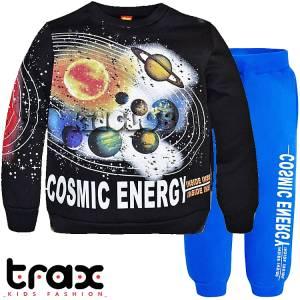 Φόρμα φούτερ αγορίστικη με τύπωμα planets TRAX