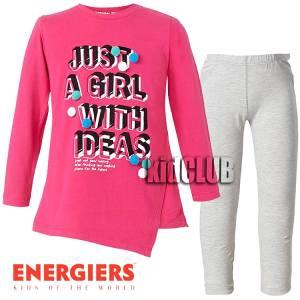 Σετ μπλούζα και κολάν κορίτσι με τύπωμα Just Energiers