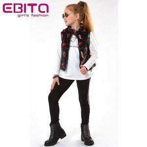 Σετ κοριτσίστικο με αμάνικο τζάκετ 3 Τεμάχια  Ebita fashion