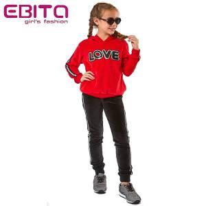 Φόρμα βελούδο κοριτσίστικη με τρέσα και πούλιες ebita fashion