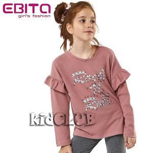 Μπλούζα μακρυμάνικη κοριτσίστικη με βολάν Ebita Fashion