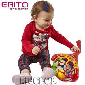 Σετ με κολάν βρεφικό κοριτσίστικο τύπωμα Woof EBITA-Evita