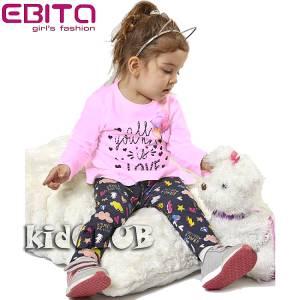 Σετ με κολάν βρεφικό κοριτσίστικο τύπωμα μπαλόνια EBITA-Evita