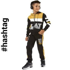 Φόρμα φούτερ αγορίστικη με τύπωμα Play Hashtag
