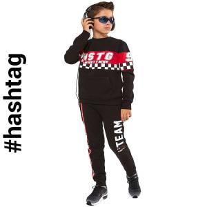 Φόρμα φούτερ αγορίστικη με τύπωμα HSTG  Hashtag