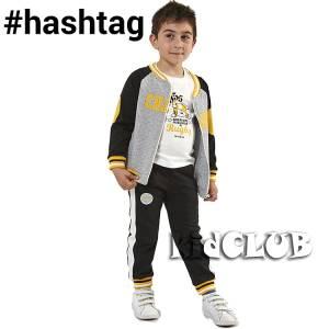 Φόρμα φούτερ αγορίστικη με τύπωμα Rugby 3 Τεμάχια Hashtag