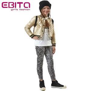 Σετ μπουφανάκι δερματίνη,μπλούζα και κολάν λεοπάρ 3 τεμ. ebita fashion