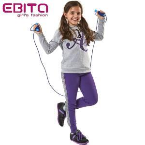 Φόρμα φούτερ κοριτσίστικη με τύπωμα και πούλιες ebita fashion