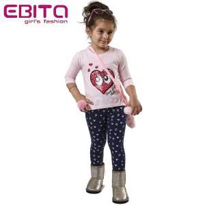 Σετ με κολάν κοριτσίστικο τύπωμα και πούλιες Eyes EBITA-Evita