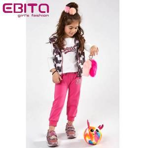 Φόρμα σετ κοριτσίστικη με αμάνικο τζάκετ 3 Τεμάχια EBITA-Evita