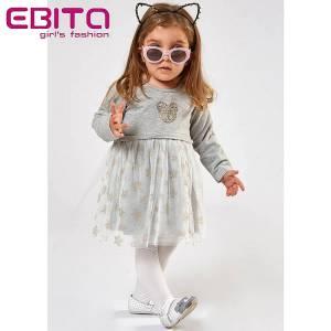 Φόρεμα συνδιασμένο φούτερ με τούλι baby κορίτσι ebita fashion