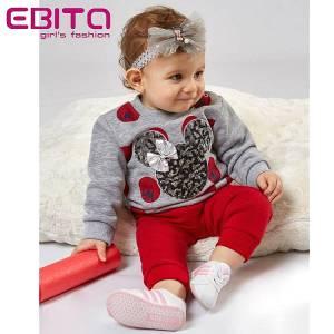 Φόρμα φούτερ κοριτσίστικη Μίννι EBITA-Evita